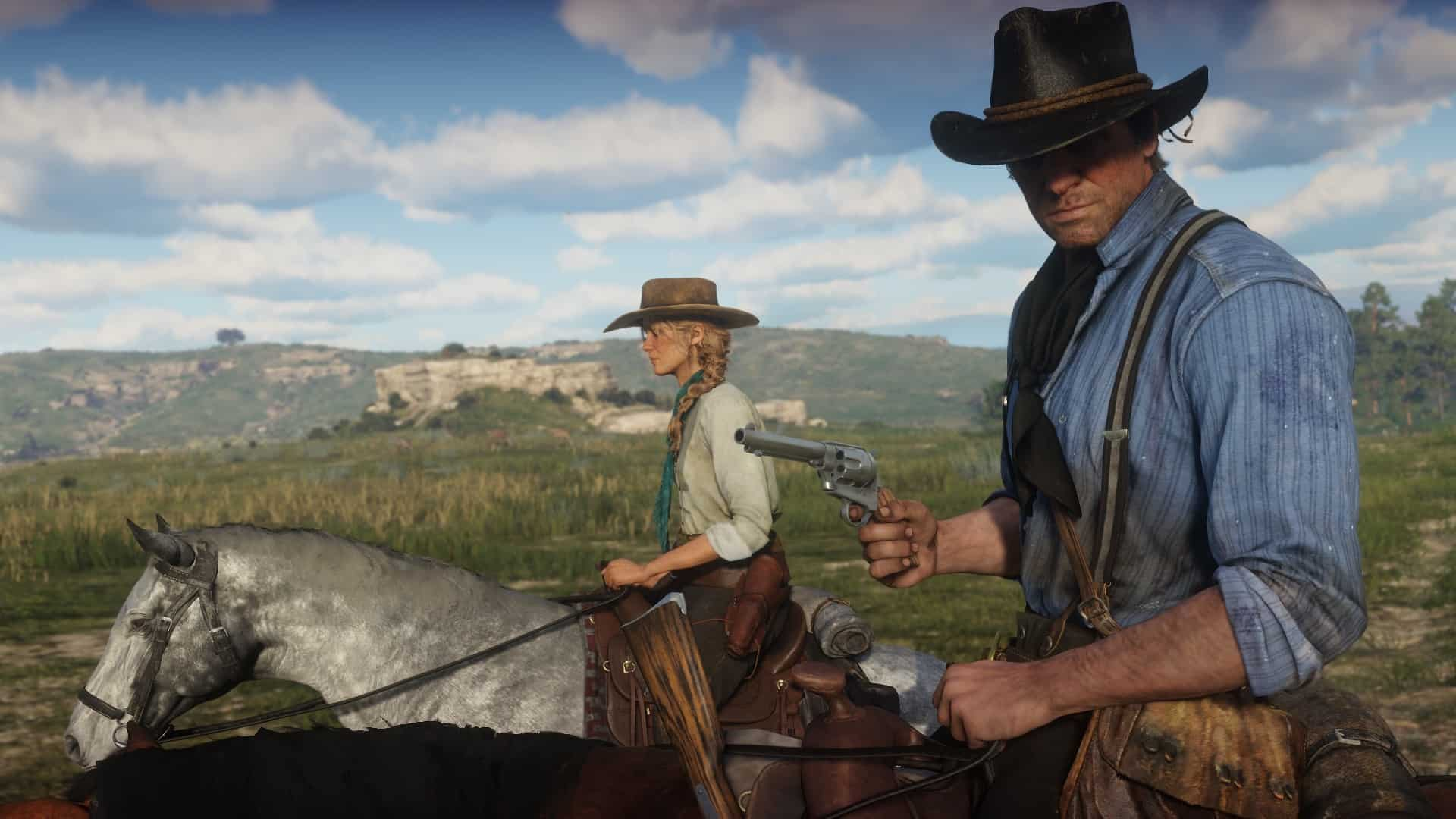 Red Dead Reddemption 2 Gameplay Wallpaper