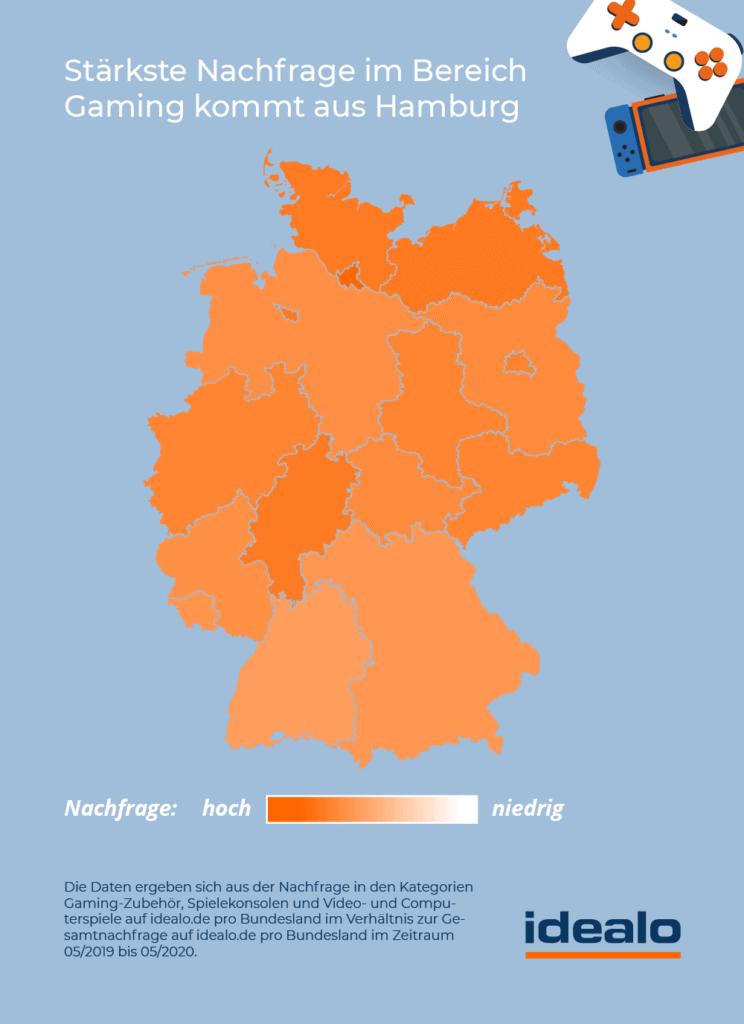 Welches Bundesland käuft die meisten Games